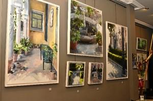 El artista expone en Galería Passage una veintena de obras.