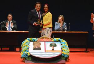 Mariano Peña recibió la Distinción 26 de Abril.