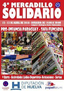 Cartel del IV Mercadillo Solidario que se celebrará los días 12 y 13 de abril.