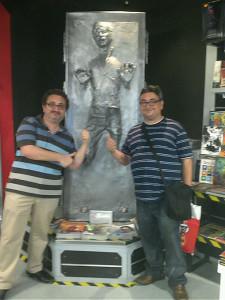 Marco junto a su hermano Gerardo.