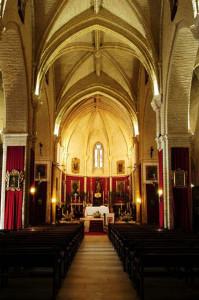 Interior de la iglesia de San Antonio Abad.