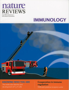 Portada de la revista 'Nature', donde se refiere a estudios del sistema inmune.