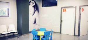 Sala de espera de Pediatría.