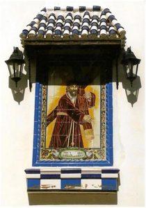 Azulejo de Nuestra Padre Jesús Nazareno en la actualidad. (Fototeca Martínez Navarro).