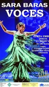 Cartel de la actuación de Sara Baras.