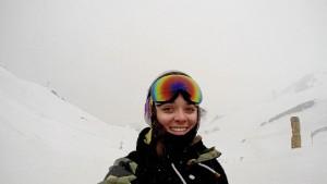 Un viaje a Sierra Nevada para conocer la nieve le cambió la vida. En la imagen, en Los Alpes.