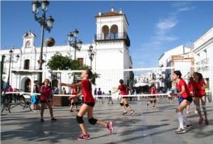 La Plaza Redonda fue 'tomada' por los deportistas cartayeros