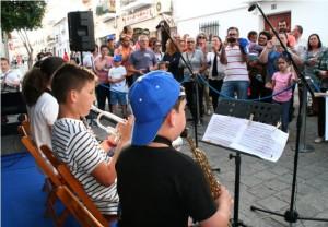 La música fue una de las protagonistas de la muestra