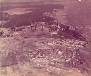 Vista aérea parcial de Corrales en la segunda mitad del siglo XX.