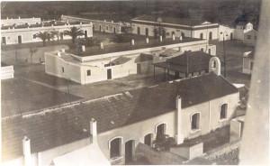 Vista parcial del ordenamiento urbanístico de la zona del entorno de la Plaza Rutherford, núcleo socio-cultural de Corrales. / Foto: Archivo Municipal de Aljaraque.