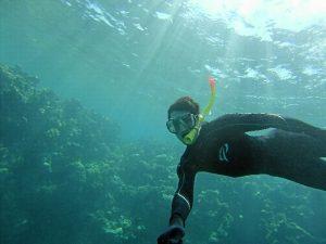 Disfrutando de los encantos de la gran barrera de coral australiana.