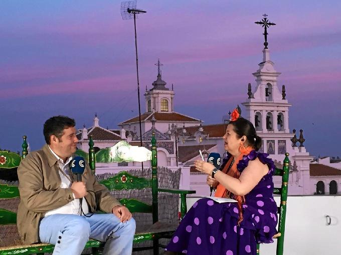 Emisiones en directo desde El Rocío.