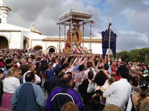 La Romería de Montemayor se celebra en honor a la patrona de Moguer, la Virgen de Montemayor.