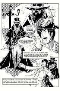 Muestra del cómic 'Black Death', que espera poder publicar pronto.