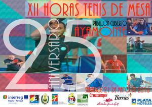 Cartel del torneo de tenis de mesa que tiene lugar en Ayamonte.