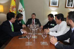 Antonio Sanz se ha reunido con miembros del comité organizador de los Juegos.