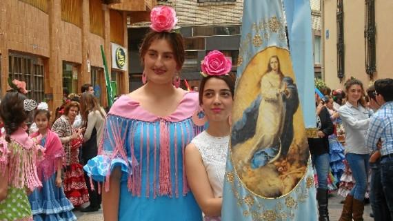 Procesión de la Cruz de Mayo en el Colegio María Inmaculada de Huelva