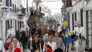 La Hermandad del Rocío de Moguer  ya va camino a la aldea.