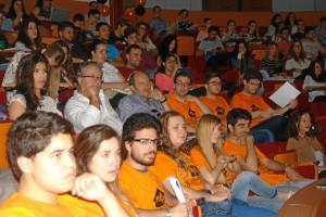 Estudiantes en la Facultad de Derecho de la Universidad de Huelva.