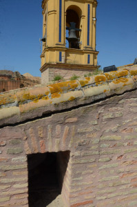 Estado del tejado de la iglesia de San Jorge.