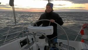 En un viaje de El Rompido a Mazagón en velero.