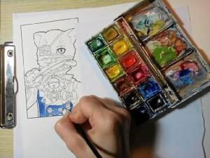 Su aspiración es poder vivir del arte.