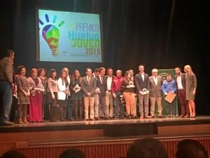 Imagen del acto de la entrega de premios de Huelva Joven del año pasado.