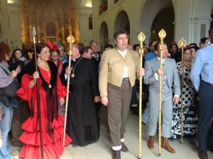 La Hermandad Matriz y la alcaldesa reciben a la hermandades.