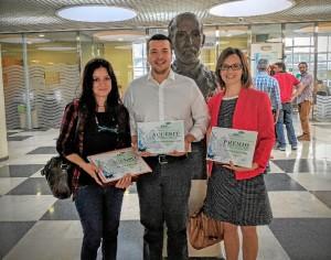 Residentes que han obtenido el Premio y los accésit del Premio Fabis al Mejor Residente de este año, tras finalizar su periodo de residencia.