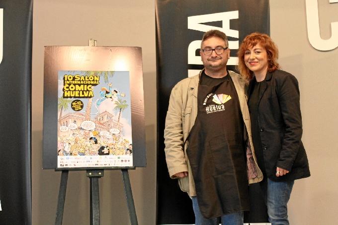 Momento de la presentación del X Salón del Cómic de Huelva.