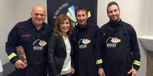 El equipo onubense, con la concejala Elena Tobar.