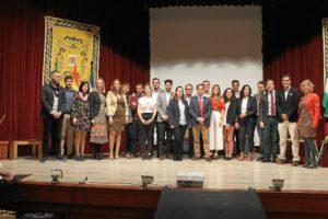 Galardonados en los Premios Bollullos Joven 2016.