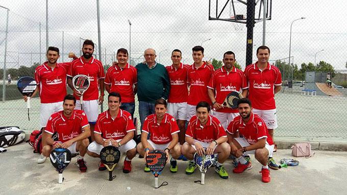 Equipo de La Volea, que acude a la fase final del Campeonato de España de pádel de Tercera Categoría.