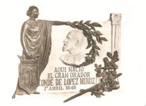 Lápida de Conde de López Muñoz. (Fototeca Martínez Navarro).
