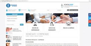 Web de 'Reiníciate y Emprende'.