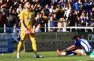 Rubén Gálvez tuvo que intervenir con acierto en varias ocasiones. / Foto: Josele Ruiz.