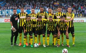 El San Roque quiere despedirse de Segunda B con un buen resultado en Cartagena. / Foto: Josele Ruiz.