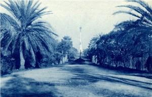 La Palmera, alrededor de 1924, sufrió la rotura que muestra la imagen