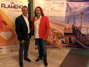 Ignacio Caraballo, con Pepe El Marismeño en Madrid.