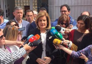 Fátima Báñez, en Huelva.