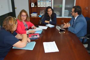 Reunión de los hosteleros onubenses con miembros del Ayuntamiento de Punta Umbría.