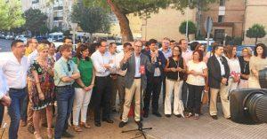Acto de fin de campaña celebrado en la barriada onubense de La Orden.