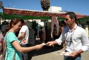 El candidato al Congresopor Ciudadanos, Manuel Repiso, ha visitado Valverde del Camino donde ha analizado la situación de la comarca.