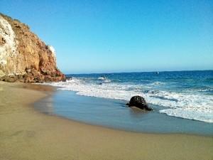 Una de sus playas favoritas en Malibú, en la que se rodó la última escena del Planeta de los Simios.