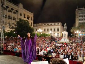 Miles de personas no quisieron perderse el concierto de Argentina en Córdoba. / Foto: Noche Blanca del Flamenco de Córdoba