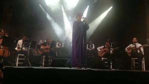 Argentina estuvo acompañada por los Mellis y José Quevedo 'Bolita'. / Foto: Noche Blanca del Flamenco de Córdoba