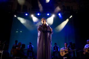 La onubense inició el conjunto de actuaciones de la Noche Blanca del Flamenco. / Foto: Noche Blanca del Flamenco de Córdoba
