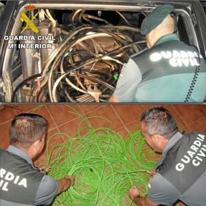 Se han recuperado aproximadamente 700 metros de cableado.