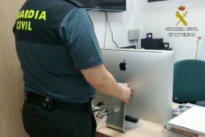 El ordenador había sido robado en Moguer.