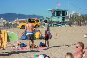Día de playa en Santa Mónica.